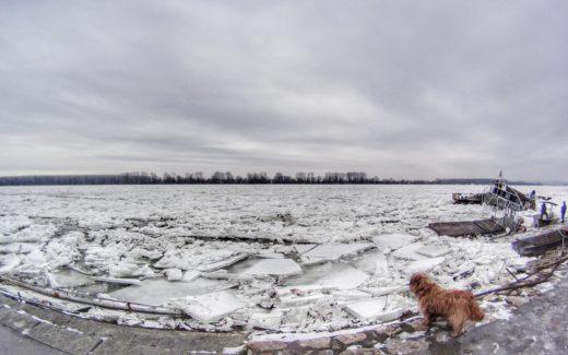 frozen danube river rzeka lodowisko hdr sony as20 gorpo fisheye landscape belgrad yugslavia serbia mother nature disaster