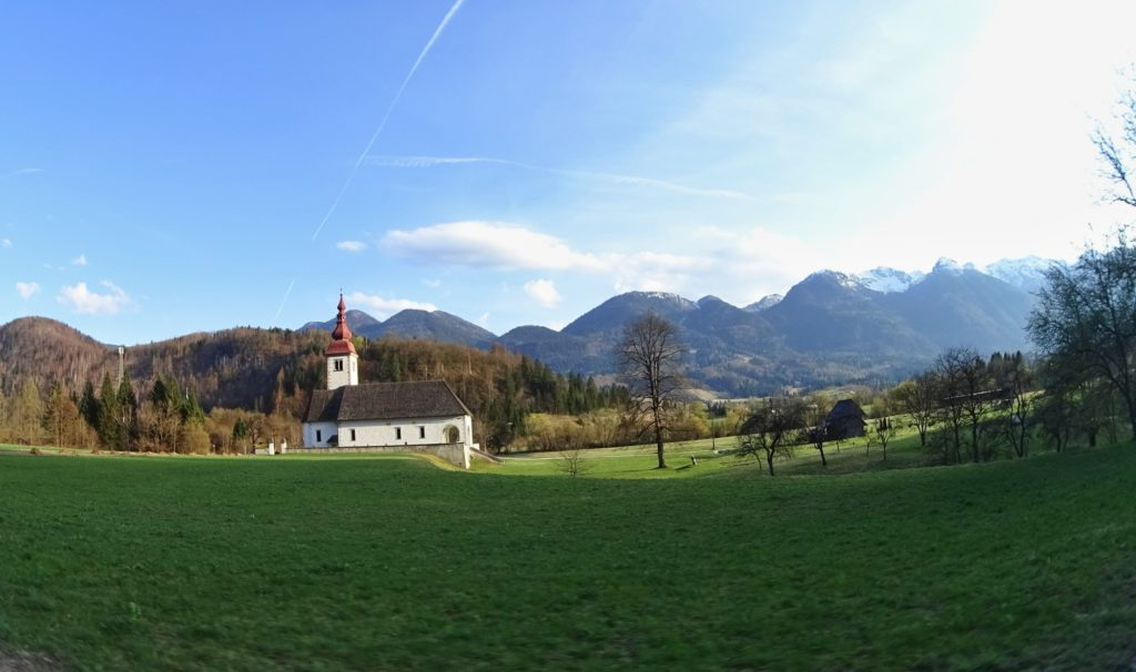 Church on the way to Bohinj