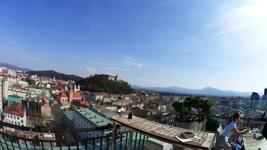 Neboticnik view sky ba skybar ljubljana slovenia