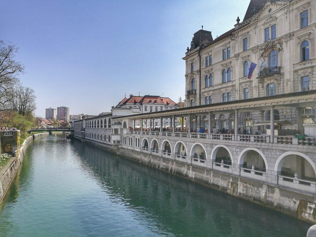 Cafes by the river in Ljubljana