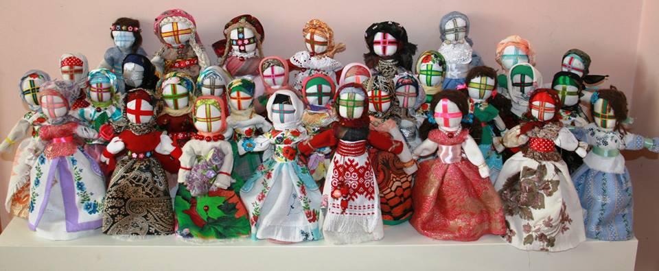 motanki z Ukrainy, wykonane przez Michalinę