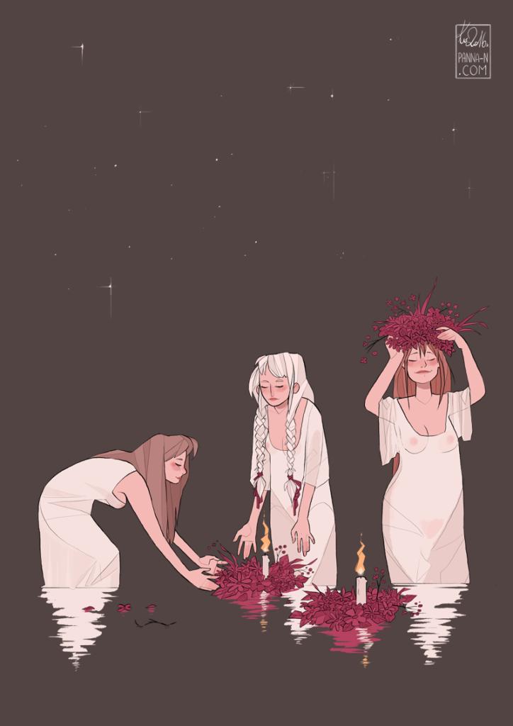 Noc Kupały autorstwa Kasi Witerscheim komix komiks manga slavonica slavic słowianie książka artysta kupalnocka świętojańska