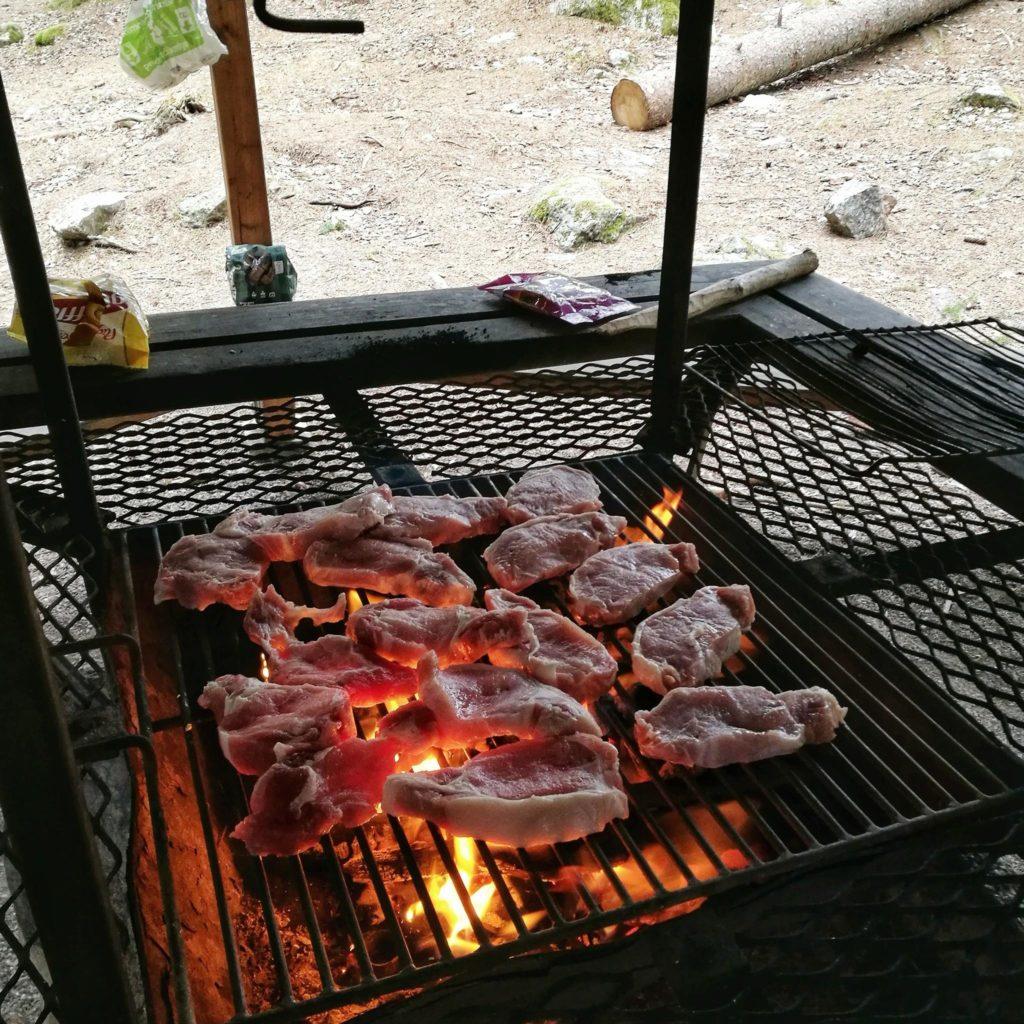 Tak wygląda wypad do lasu z Serbami ;) wieprzowina sztokholm grill