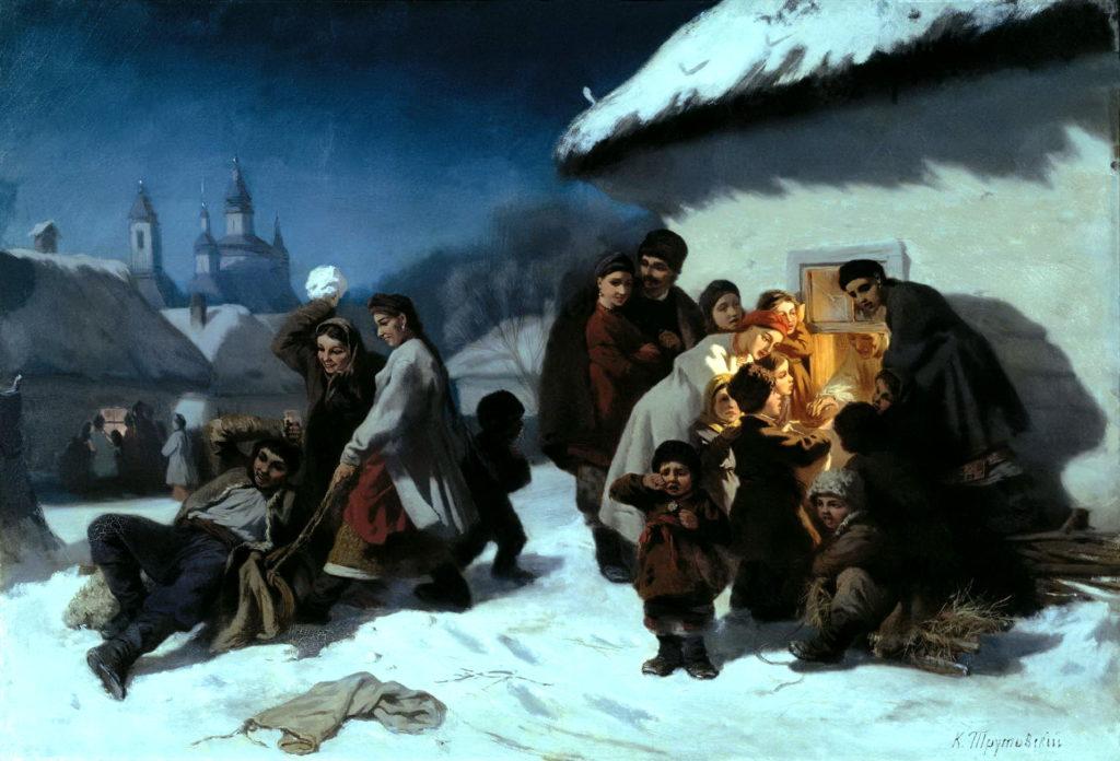 Kostiantyn bozic boże narodzenie słowianie slavic legend tradition Trutowski, Kolęda na Ukrainie, XIX wiek szczodre gody