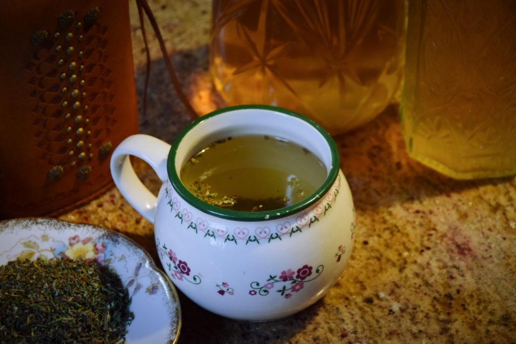 herbata napar konopia susz siewna cbd zdrowie zioła mieszanka