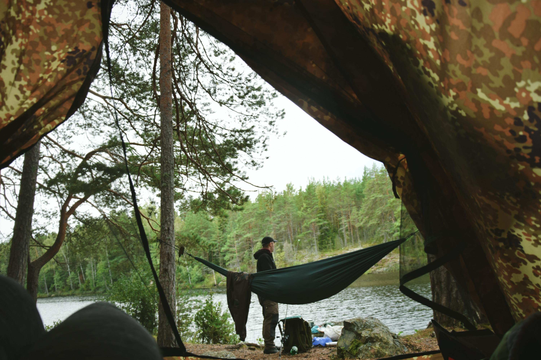 Biwak pod namiotem w Szwecji