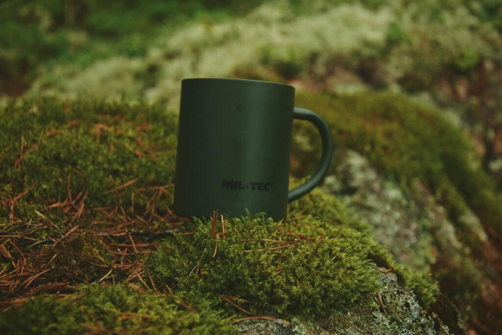 mil-tec kubek emaliowany metalowy milworld outdoor biwak survival bushcraft mug