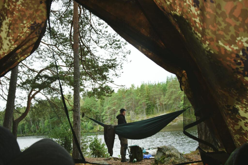 allemansratten szwecja biwak namiot fisketur