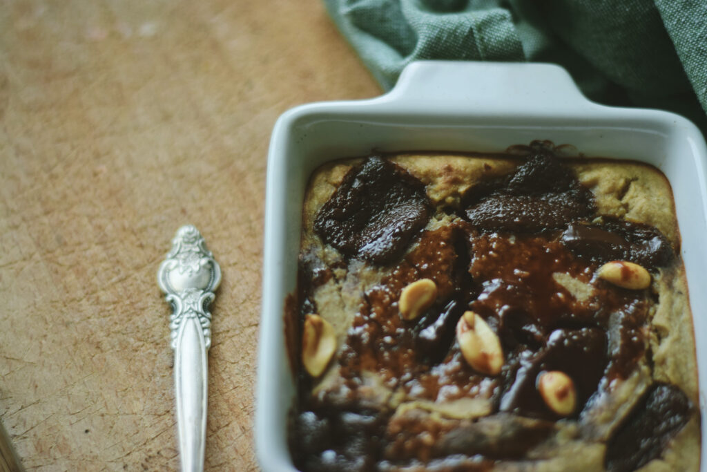 owsianka pieczona ciasteczko szybkie śniadanie zdrowie ciastko
